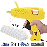 Hot Melt Glue Gun With LED Light,MKROYO Full Size 60/100W Dual Power Efficient Hot Melt Glue Gun With 10 pcs Premium Melt Glue Sticks (0.43'' x 7.8'') for DIY Arts & Crafts and Home Quick Repairs
