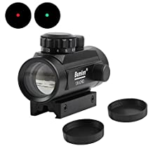 Red and Green Dot Sight Holographic Scope 1X40mm with 11-20mm Rail Mount for Airsoft