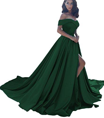 Dressesonline Women's Off Shoulder A Line Split Prom Evening Dresses Long Formal Gown - For Formal Dresses Evening