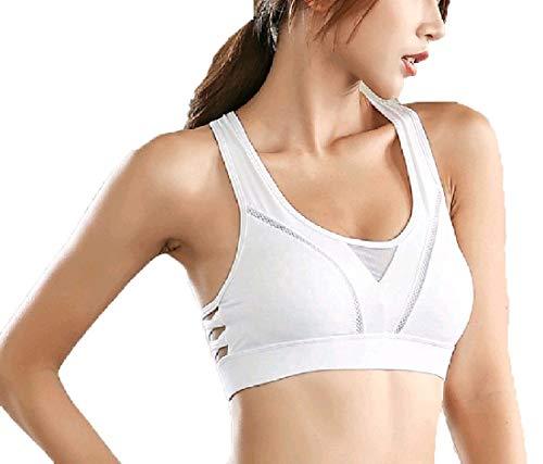 Energy Womens Push Up Shockproof Quick Dry Running Bodysuit Bra White S