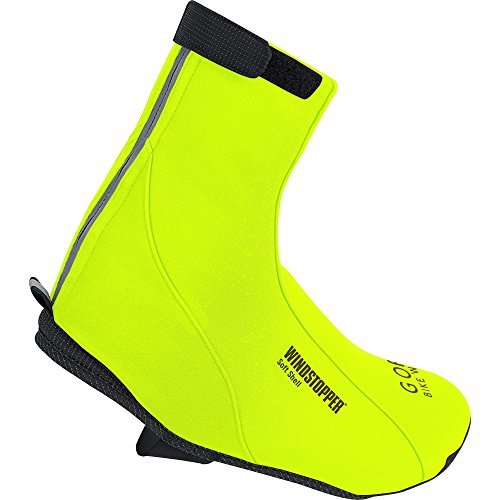 Gore Bike Wear Road Windstopper Soft Shell Termo - Botin de Ciclismo Amarillo Neón