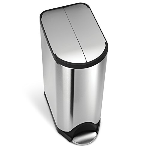 simplehuman Butterfly Step Trash Can, Stainless Steel, 30 L / 7.9 Gal by simplehuman