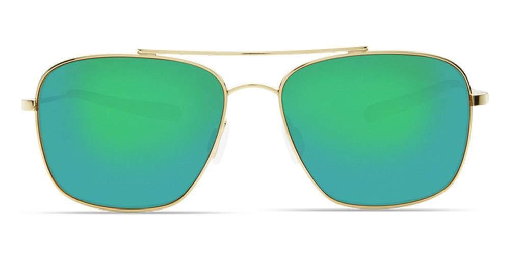 One Size Costa Del Mar Canaveral Sunglasses Shiny Gold//Green Mirror 580 Plastic