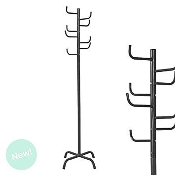 DCASA Perchero Metal Cactus Negro