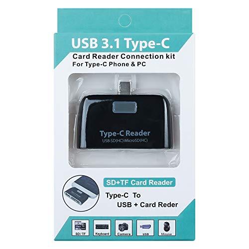 Shot Case 36723 3-in-1-Kartenleser für Honor 10, SD-Kartenleser, Micro SD, USB auf Type-C, Schwarz