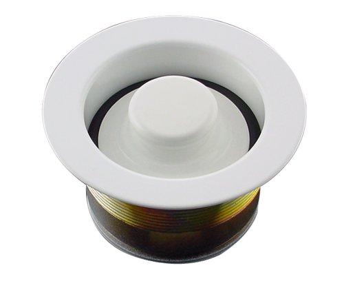 Mr. Scrappy CSFS-WH-93 Custom Color Sink Flange and Stopper Set, (White Disposer Flange)