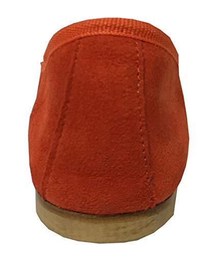 Ballerine Made Tissu Coton En Valeria Cuir Modèle 1 Talon Upper Daim Italy In 100 Doublé Orange Femme Cm Class 5tqSw8KZx4