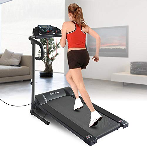 Semper Folding Electric Motorized Treadmill Running Jogging Walking Machine for Home Exercise W/Ice Cooling Towel