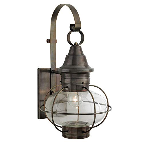 - Norwell Lighting 1609-SI-CL New Vidalia Onion - One Light Outdoor Large Wall Mount, Glass Options: Clear Glass, Choose Finish: SI: Sienna