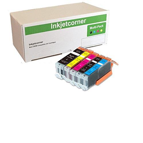 Inkjetcorner 5 Pack Compatible Ink Cartridges Replacement for Pixma Series MG5720 MG6820 MG5721 MG5722 MG6821 MG6822 Pigment Black Replacement