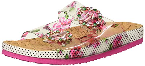 Blue by Betsey Johnson Women's Misty Slide Sandal, Pink/Multi, 9 M US from Blue by Betsey Johnson