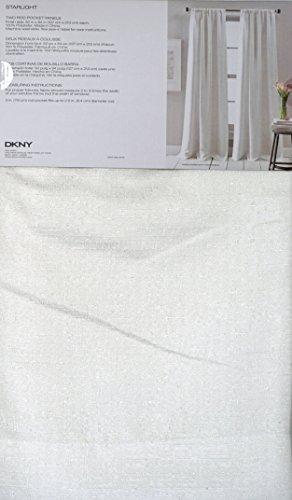 DKNY Pair of Window Rod Pocket Panels Curtains Drapery Set o