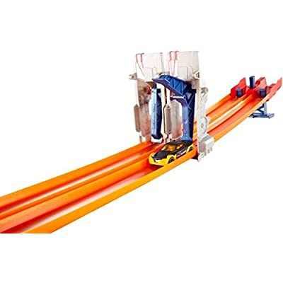 Hot Wheels Super Launch Speed Track Accessory: Toys & Games