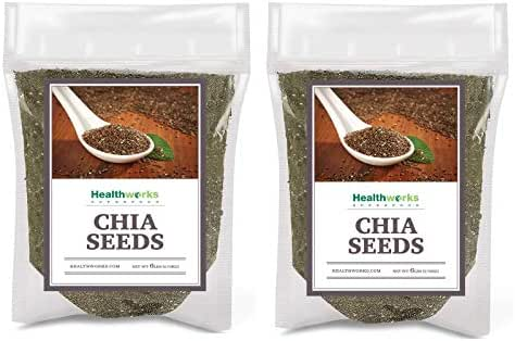 Healthworks Chia Seeds Raw (12lb / 192oz) (2 x 6 Pound Bags) | Pesticide-Free, Premium & All-Natural | Contains Omega 3, Fiber & Protein | Great with Shakes, Smoothies & Oatmeal