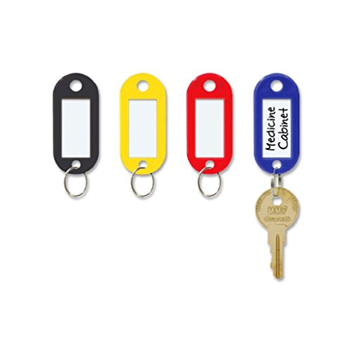 Key ID Label Name Tags Colorful Split Ring Car Door Keyring Keychain (Halloween Horse Show Names)