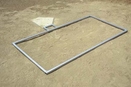 4' x 6' Baseball Batter's Box Template by Stackhouse Athletic