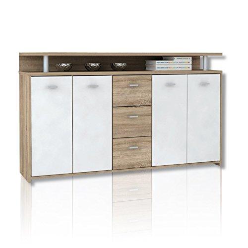 ROLLER Sideboard PABLO - Sonoma Eiche-weiß - 152 cm