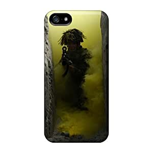 Zheng caseFlexible Tpu Back Case Cover For Iphone 5/5s - Soldiers War Military