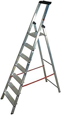 Tap 0000975 escalera Pro en aluminio 7 peldaños 3.45 M carga 150 kg: Amazon.es: Industria, empresas y ciencia