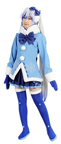 Senbonzakura Miku Costume (MILICA BOOKS Vocaloid Snow Miku Cosplay Costume Size M)