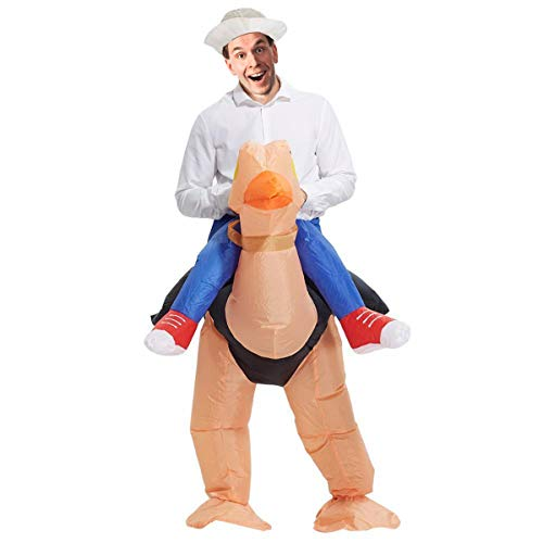 BestParty Fancy Adult Inflatable Clothing Ostrich Halloween Clothing Fantasy Costume Riding Costume