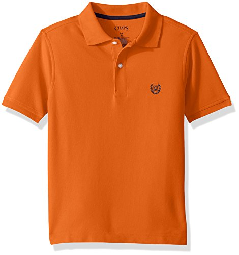 Chaps Boys Short Sleeve Solid Polo Shirt