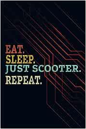 Password book No Eat Sleep Repeat Just Scooter Funny: Tabbed password book, Password notebook keeper, Internet password log book, Computer password book