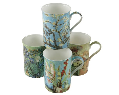 Gracie Bone China Impressions 9-Ounce Mug, Set of ()