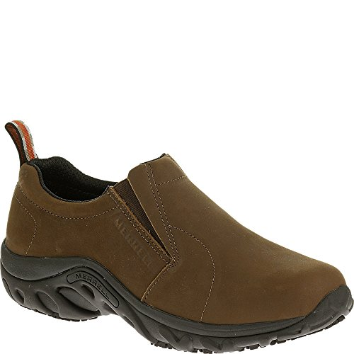 Merrell Women's Jungle Moc Pro Studio Slip-Resistant Work Shoe, Brown/Nubuck, 9.5 M US