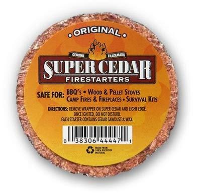 SUPER CEDAR FIRESTARTERS - 4 Count