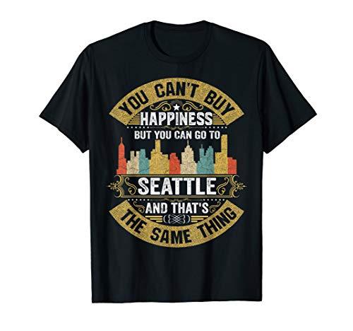 (Vintage Seattle City Flag Tshirt I Love Seattle Shirt)