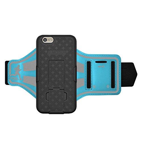 Amzer Shellster Schutzhülle/Armband für iPhone 6/6S–Blau