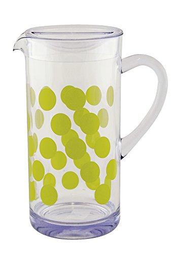 Zak Designs 1.7 Litre Dot Pitcher, Green, 10 x 10 x 25 cm ()