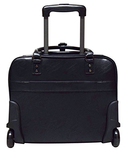 Kenneth Cole Reaction Wheel Fast Double Compartment Top Zip Wheeled Computer Case Overnighter (Black) by Kenneth Cole REACTION (Image #3)
