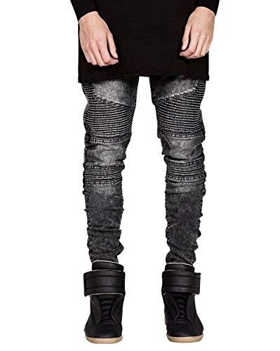 Distrutto Fit Jeans Anch'esso Ragazzi Stretch Blau Vintage Pantaloni Con Da Classiche Denim Uomo Slim Casual In Biker tw0XAgqxt