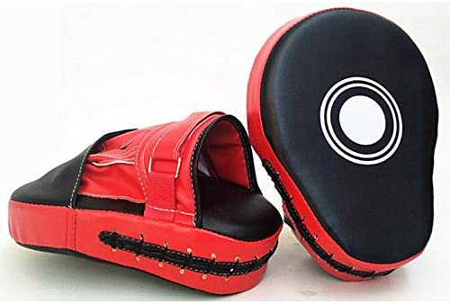 Renquen 2PCS Sparring Punch Bag Strike Pad Leather Boxing Focus Pads MMA Hook Jab Mitts Suitable for Taekwondo Martial Arts- Valour Strike Kickboxing Muay Thai Exercise