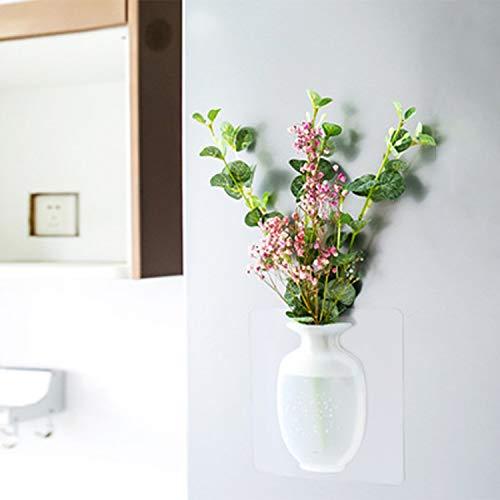 EJAYOUNGer Silicone Sticky Vase 2Pack Reusable WallMounted Flower Pots Indoor DrillingFree Hanging Decorative Flower Vase 2 PCs 2 PCs