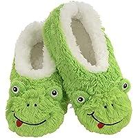 Slumbies! Womens Slippers - Indoor Slippers for Women - Comfortable House Slippers for Women - Fuzzy Slippers - Frog