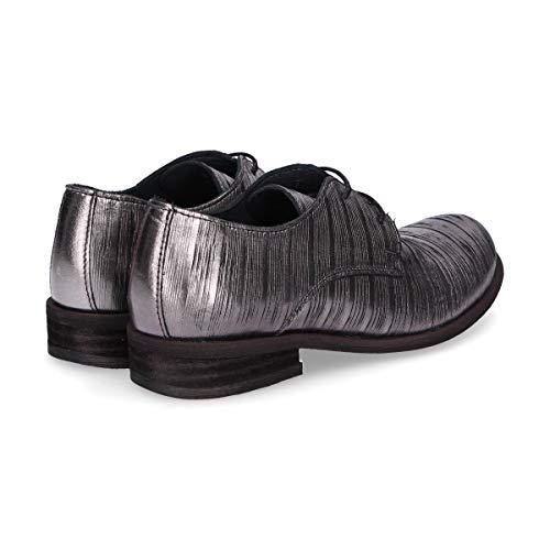 A440cfsilver Argent Felmini Lacets Chaussures Femme Cuir À qA11E57w