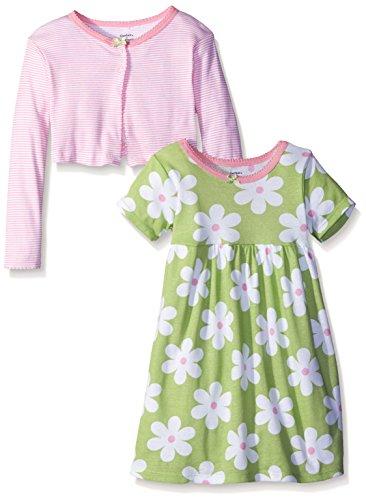 Gerber Baby Girls' Cardigan and Dress Set