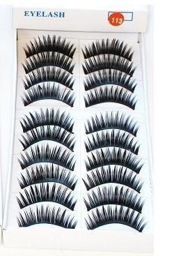 10 Pair Thick Fake False Makeup Eyelashes Eye Lash