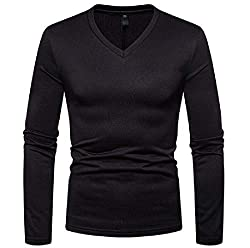 Men's V Neck Velvet T Shirts
