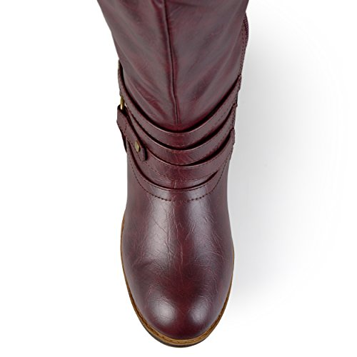 Wide Ankle Boot Womens Wine Extra Strap Riding Calf Sized Collection Calf Knee and Wide Regular Journee High 4x8BHfv