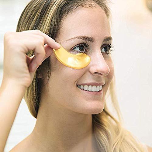 41p5mItVgNL - 30 Pairs Crystal Collagen Under Eye Mask, Gold Collagen Eye Pad For Moisturizing & Reducing Dark Circles, Gold