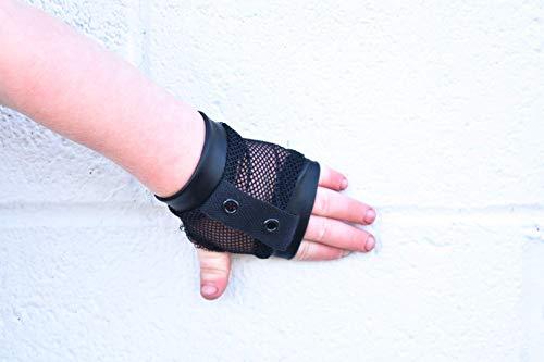 - Kids Retro Black Mesh Fishnet Fingerless Gloves Hipster Kids Toddlers Boys Girls