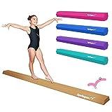 Springee 9ft Balance Beam - Extra Firm - Vinyl Folding Gymnastics Beam for Home - Pink