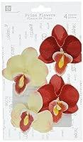 Prima 537920 Island Orchid Flower Embellishments, Parrot