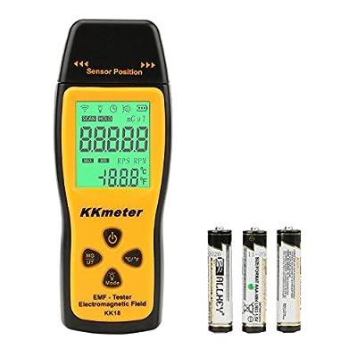 EMF Meter KKmeter Electromagnetic Field Radiation Detector Handheld EMF Detector Digital LCD Radiation Meter Dosimeter Geiger Counters
