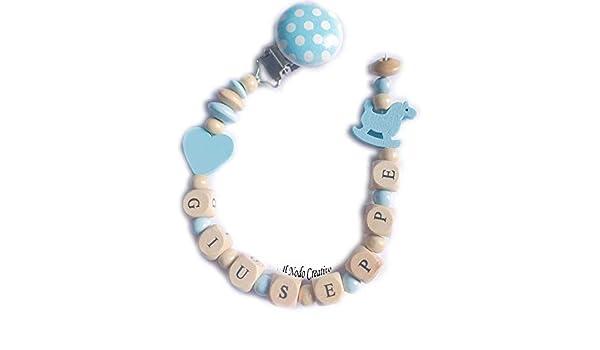 Cadena de chupete azul | chupetero con nombre adaptable ...