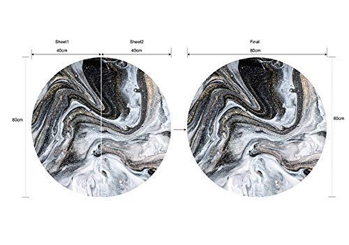 AMNQT YX011 Nuevo Textura de Agua En Blanco y Negro mármol Escritorio Piso Puerta Pegatinas Impermeable Casa Decorativo 3D...